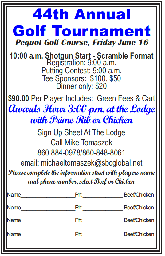 Golf tournament registration friday june 16th elks 360 new london ct the form can be printed and mailed click here thecheapjerseys Gallery